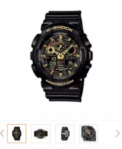 Casio G-Shock นาฬิกาข้อมือผู้ชาย รุ่น GA-100CF-1A9DR (สีดำ)