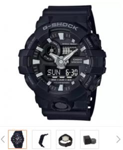 Casio G-Shock นาฬิกาข้อมือผู้ชาย รุ่น GA-700-1ADR (สีดำ)